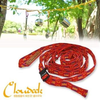 【迪伯特DIBOTE】戶外露營RV 民族風掛物繩 掛物織帶鏈 - 附收納袋