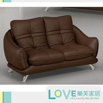 LOVE樂芙 A009超千仿牛皮咖啡色雙人座沙發