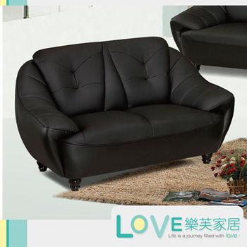 LOVE樂芙 A1109超千仿牛皮黑色雙人座沙發