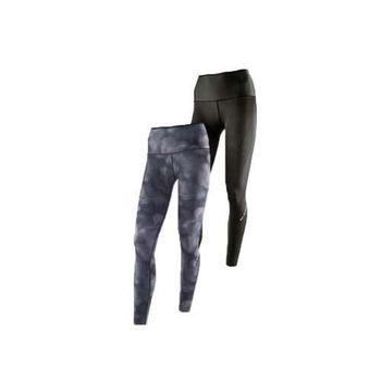 【MIZUNO】BG9000 女緊身長褲-可雙面穿- 慢跑 路跑 抗UV 黑灰