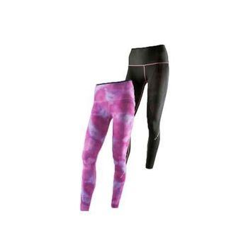 【MIZUNO】BG9000 女緊身長褲-可雙面穿- 慢跑 路跑 抗UV 紫紅