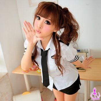 i-Style 愛的追緝!三件式軍警角色服(白黑)【AB01409】