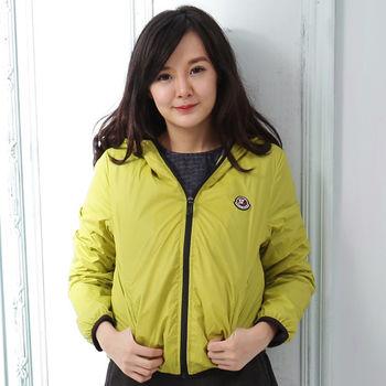 【Stoney.ax】韓版新款輕薄別緻連帽北極絨休閒外套-綠色