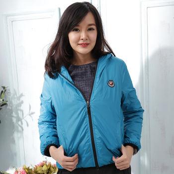 【Stoney.ax】韓版新款輕薄別緻連帽北極絨休閒外套-水藍色