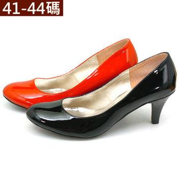 【 101大尺碼女鞋】 漆皮亮面高跟鞋   (黑  紅 白3色) 888-01
