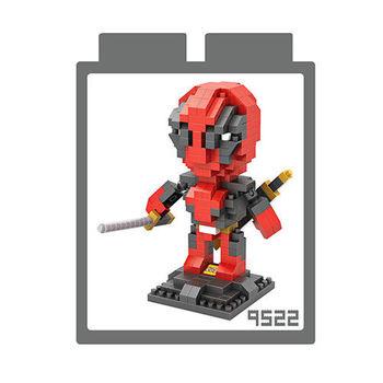 LOZ 鑽石積木 【動漫系列】9522-死侍 益智玩具 趣味 腦力激盪