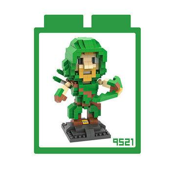 LOZ 鑽石積木 【動漫系列】9521-綠箭俠 益智玩具 趣味 腦力激盪