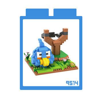 LOZ 鑽石積木 【動漫系列】9514-藍色鳥 益智玩具 趣味 腦力激盪