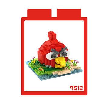 LOZ 鑽石積木 【動漫系列】9512-紅色鳥 益智玩具 趣味 腦力激盪