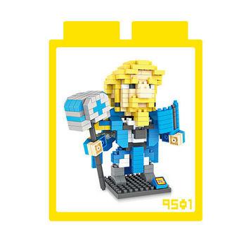LOZ 鑽石積木 【電玩系列】9501-魔獸世界 大法師 益智玩具 趣味 腦力激盪