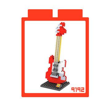 LOZ 鑽石積木 【樂器系列】9192-紅電吉他 益智玩具 趣味 腦力激盪