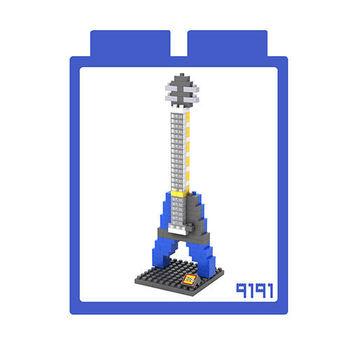 LOZ 鑽石積木 【樂器系列】9191-藍電吉他 益智玩具 趣味 腦力激盪