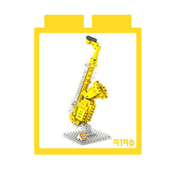 LOZ 鑽石積木 【樂器系列】9190-薩克斯風 益智玩具 趣味 腦力激盪