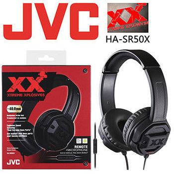 【JVC】重低音智慧型線控耳罩式耳機 HA-SR50X