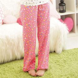 亮彩星東森購物影片星純棉長褲兩件組-粉紅+蘋果綠