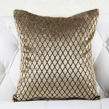 簡約現代床頭大沙發靠墊奢華含芯