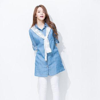 iima 森林系女孩牛仔丹寧洋裝2件組(現貨+預購)