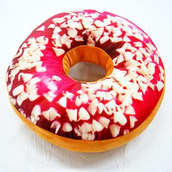 3D創意立體坐墊-草莓脆片甜甜圈