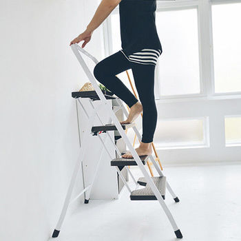 《舒適屋》簡約四層可折疊A字椅/家用梯/樓梯椅