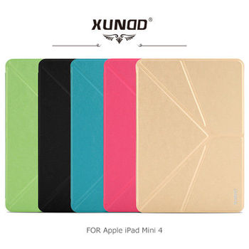 【XUNDD】 Apple iPad Mini 4 with Retina 哈密瓜可立皮套