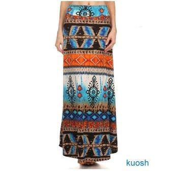 【Kuosh】美國進口民族風圖騰長裙(現貨+預購)NW-5256