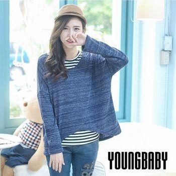 【YOUNGBABY】Sugar雪花條紋前短後長造型毛衣.共3色