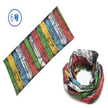 山地自行車防曬頭巾(彩色)