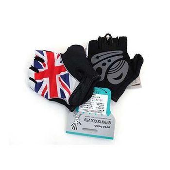 【GOODHAND】英國國旗露指手套-單車 自行車  紅藍白
