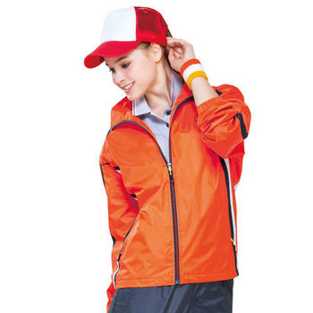 【SPAR】男女防潑水中性款外套(SP6565A)橘色