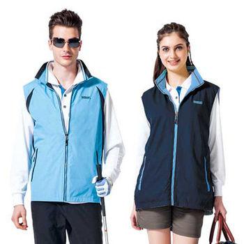 【SPAR】男女防潑水中性款雙面穿背心(SP7642A)青藍/丈青色