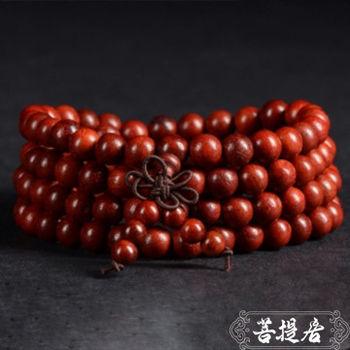 【菩提居】紅酸枝紅木福喜108顆唸珠(6mm)