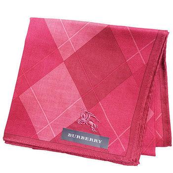 BURBERRY 經典菱格紋刺繡戰馬帕領巾-紅色