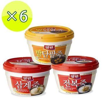 【一等鮮】韓國東遠粥品6杯(鮑魚粥*2+紅豆栗子粥*4)