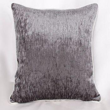 灰色雪尼爾床頭靠背沙發靠墊抱枕含芯