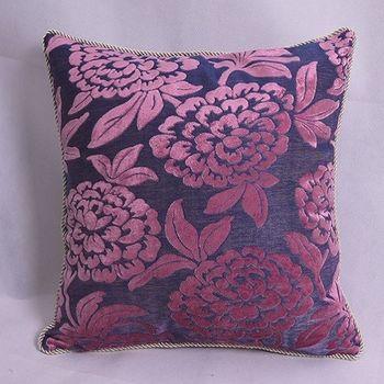 紫色歐式沙發靠墊抱枕靠枕含芯
