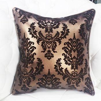 皮革歐式沙發抱枕床頭靠背靠墊含芯