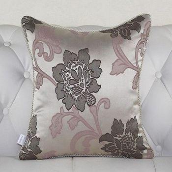 歐式奢華大花床頭大靠墊沙發靠墊含芯