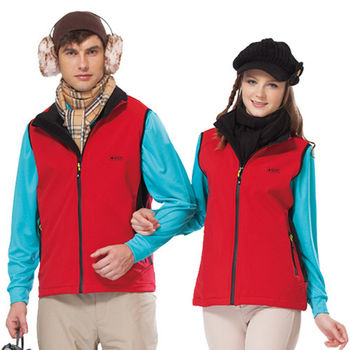 【SPAR】男女多功能彈性保暖休閒中性款背心(SP5691A)紅色