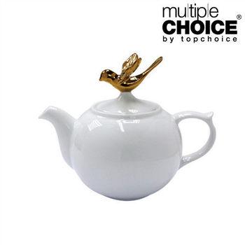 【Multiple Choice】皇家金鳥白瓷茶壺  飛翔版 1000ml