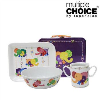 【Multiple Choice】好可愛安心陶瓷餐具組(杯/盤/碗)-大耳象
