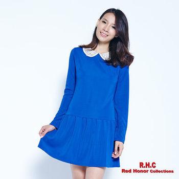 【R.H.C】蕾絲領低腰剪接洋裝