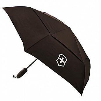 VICTORINOX 瑞士維氏TA 4.0 鈦金屬防風自動雨傘-黑 VB-31170701