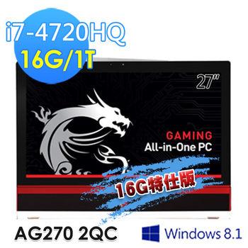msi微星 AG270 27吋 i7-4720HQ GTX97016G特仕版(AG270  2QC-206TW)