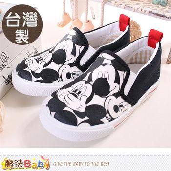 魔法Baby~童鞋 台灣製專櫃款迪士尼米奇正版帆布鞋~sh9159
