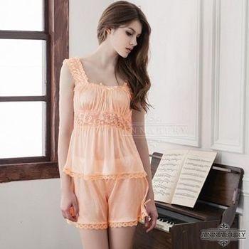 i-Style 加大尺碼Annabery俏皮公主粉橘上衣短褲組(橘)【AB27103】