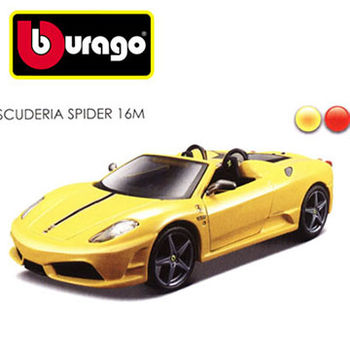 【BBURAGO】1/32法拉利-SCUDERIA SPIDER16M 跑車 模型車