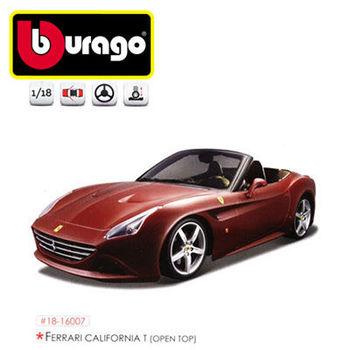 【BBURAGO】1/18法拉利平裝版-CALIFFORNIA T open top 跑車 模型車