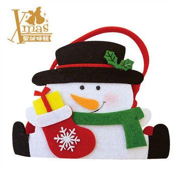 【X mas聖誕特輯2015】雪人提袋 W0711120