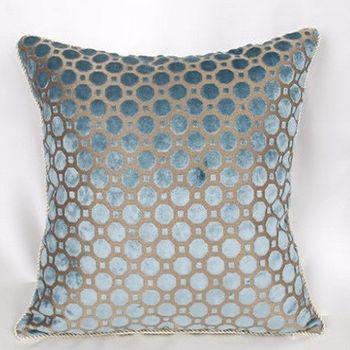 藍色圓點簡約床頭大靠墊沙發靠墊抱枕靠枕含芯