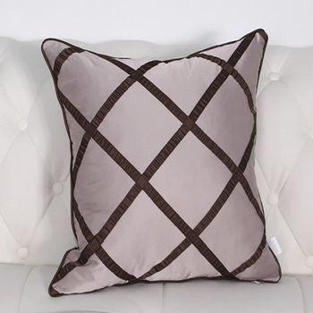 現代歐式條紋格子沙發大抱枕含芯